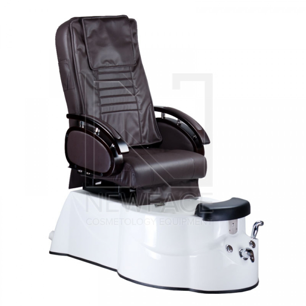 Fotel do pedicure z masażem BR-3820D Brązowy #1