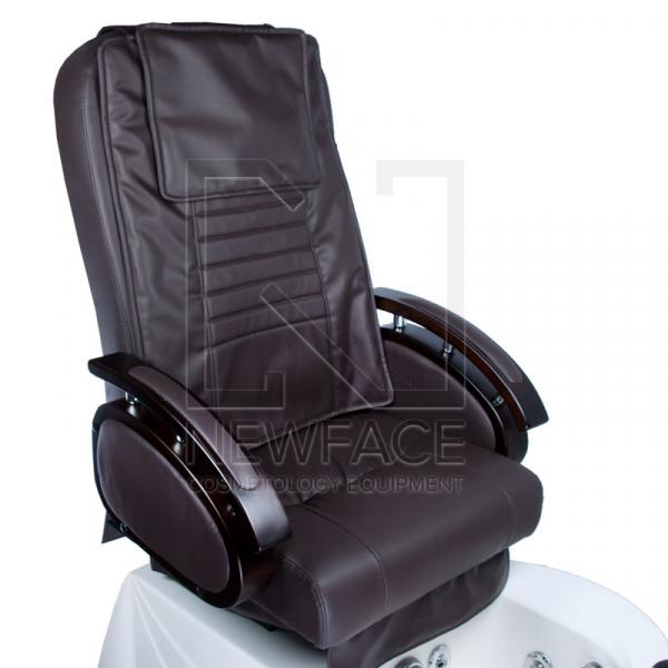 Fotel do pedicure z masażem BR-3820D Brązowy #3