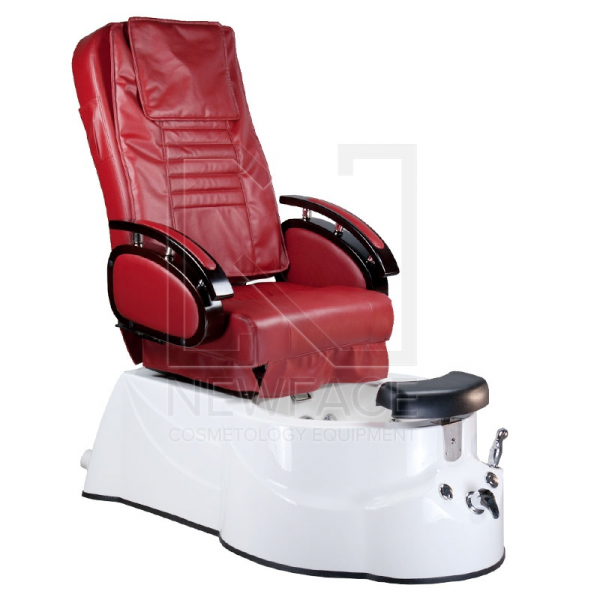 Fotel do pedicure z masażem BR-3820D Bordowy #1