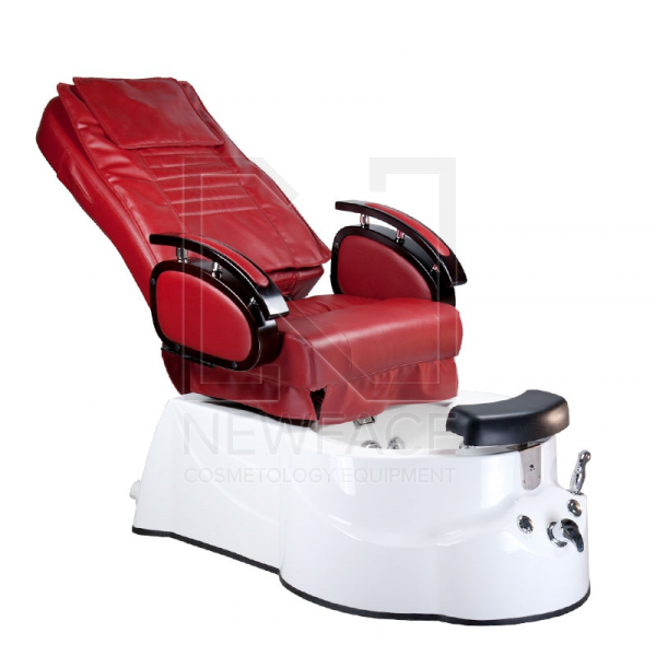 Fotel do pedicure z masażem BR-3820D Bordowy #2