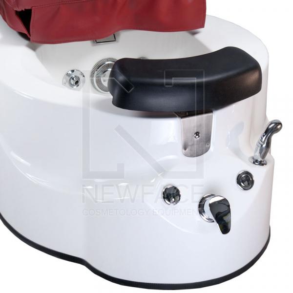 Fotel do pedicure z masażem BR-3820D Bordowy #5