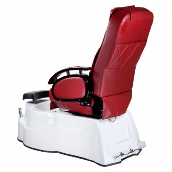 Fotel do pedicure z masażem BR-3820D Bordowy #8