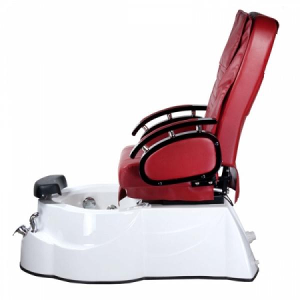 Fotel do pedicure z masażem BR-3820D Bordowy #9
