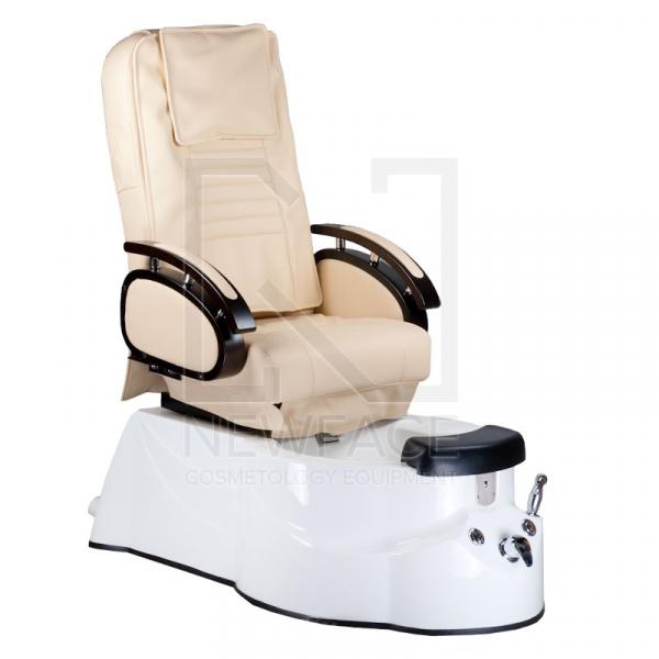 Fotel do pedicure z masażem BR-3820D Kremowy #1
