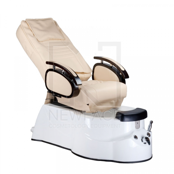 Fotel do pedicure z masażem BR-3820D Kremowy #2
