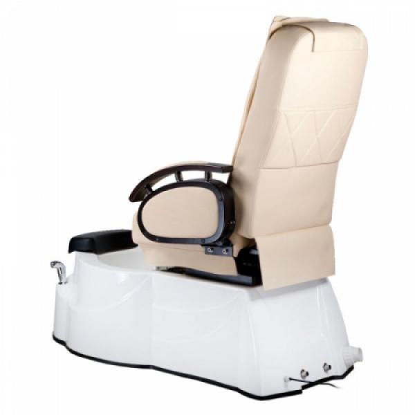 Fotel do pedicure z masażem BR-3820D Kremowy #7