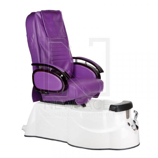 Fotel do pedicure z masażem BR-3820D Fioletowy #1