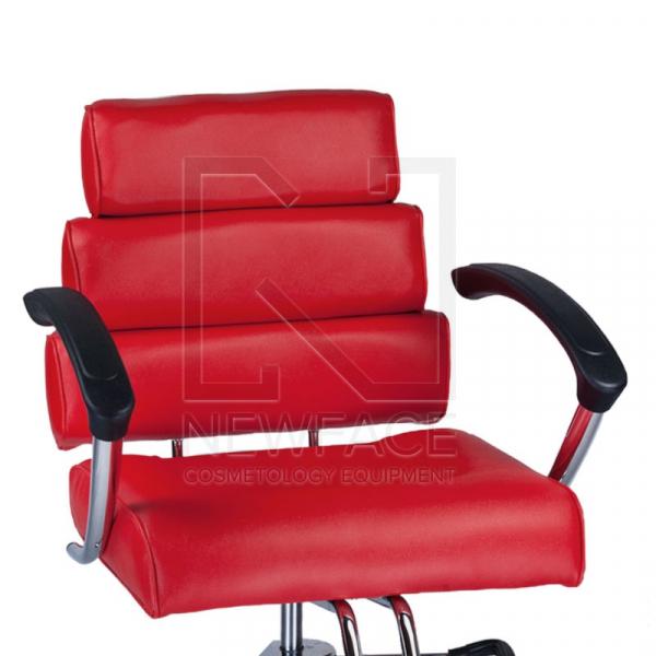 Fotel fryzjerski FIORE czerwony BR-3857 #2