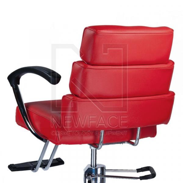 Fotel fryzjerski FIORE czerwony BR-3857 #3