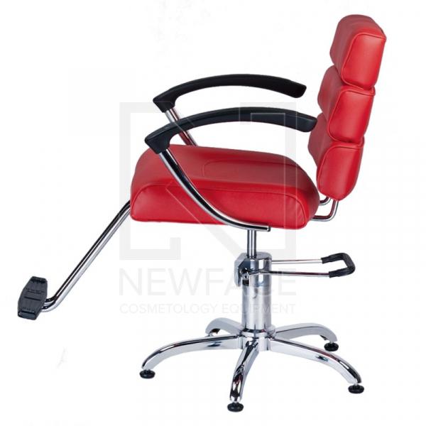 Fotel fryzjerski FIORE czerwony BR-3857 #5
