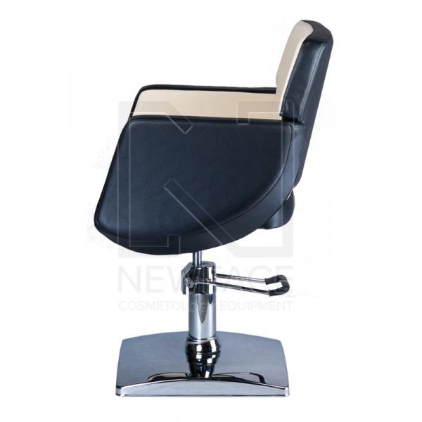 Fotel fryzjerski NICO czarno-kremowy BD-1088 #5