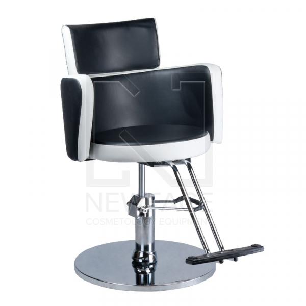 Fotel fryzjerski LUIGI BR-3927 czarno-biały #1