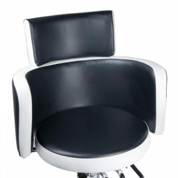 Fotel fryzjerski LUIGI BR-3927 czarno-biały #2