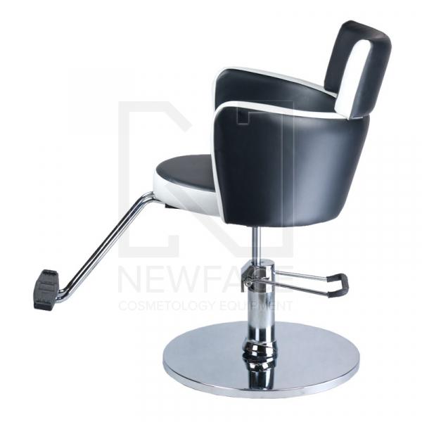 Fotel fryzjerski LUIGI BR-3927 czarno-biały #5