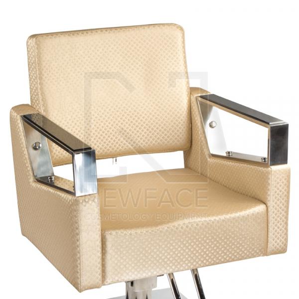 Fotel fryzjerski Roberto kremowy BM-203 #2