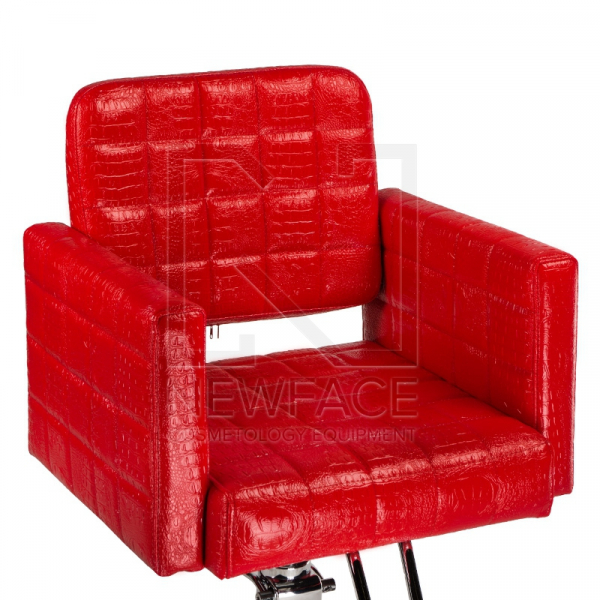 Fotel fryzjerski Bruno czerwony BM-207 #2