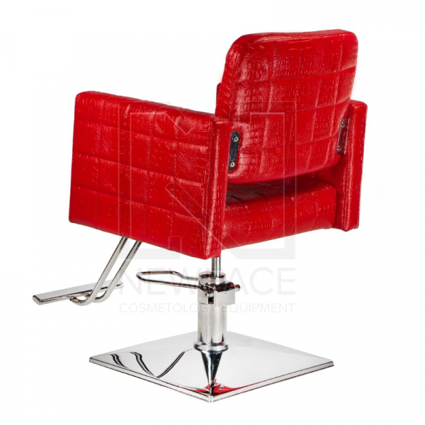 Fotel fryzjerski Bruno czerwony BM-207 #3