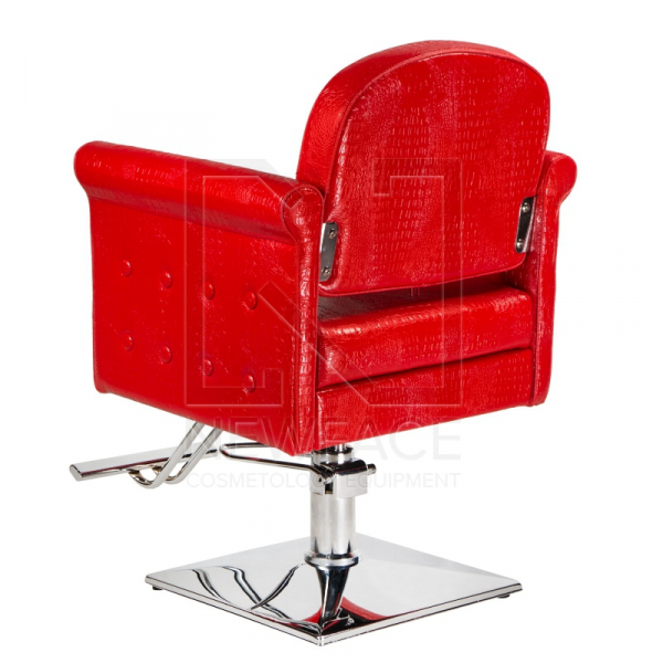 Fotel fryzjerski Carlo czerwony BM-256 #3