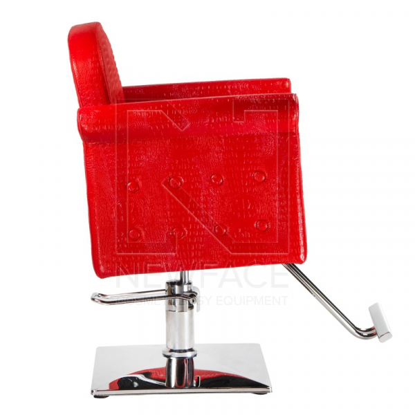 Fotel fryzjerski Carlo czerwony BM-256 #4