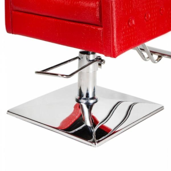 Fotel fryzjerski Carlo czerwony BM-256 #5
