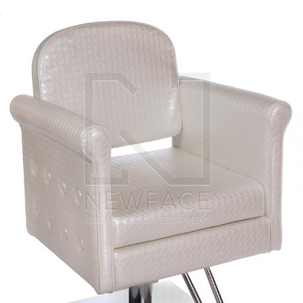 Fotel fryzjerski Carlo perłowy BM-256 #1