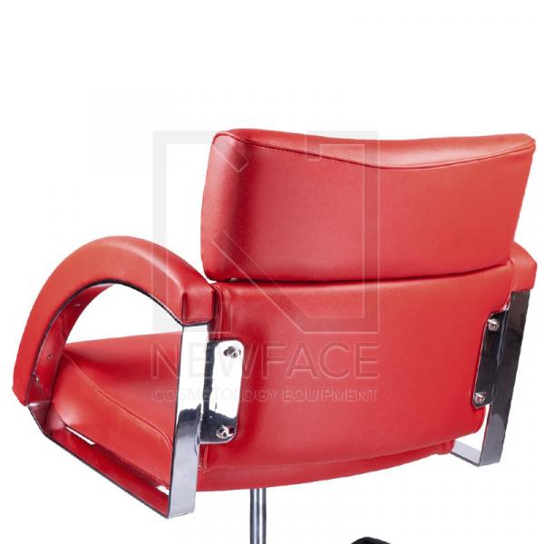 Fotel fryzjerski DINO czerwony BR-3920 #2