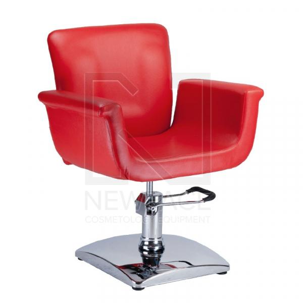 Fotel fryzjerski ELIO czerwony BD-1038 #1