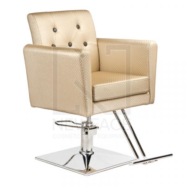 Fotel fryzjerski Leone kremowy BM-297 #1