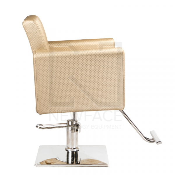 Fotel fryzjerski Leone kremowy BM-297 #4