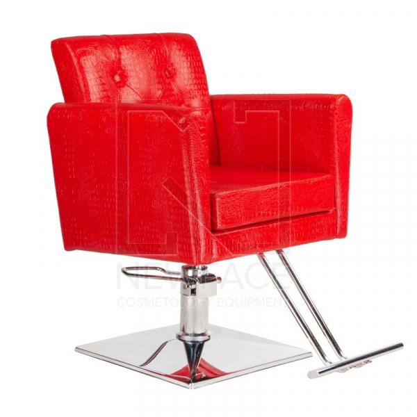 Fotel fryzjerski Lorenzo czerwony BM-291 #1