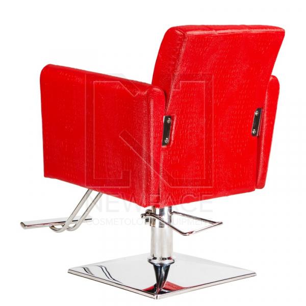 Fotel fryzjerski Lorenzo czerwony BM-291 #3