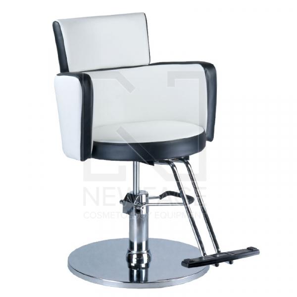 Fotel fryzjerski LUIGI BR-3927 biało-czarny #1