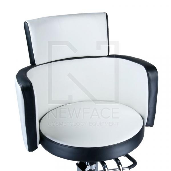Fotel fryzjerski LUIGI BR-3927 biało-czarny #2