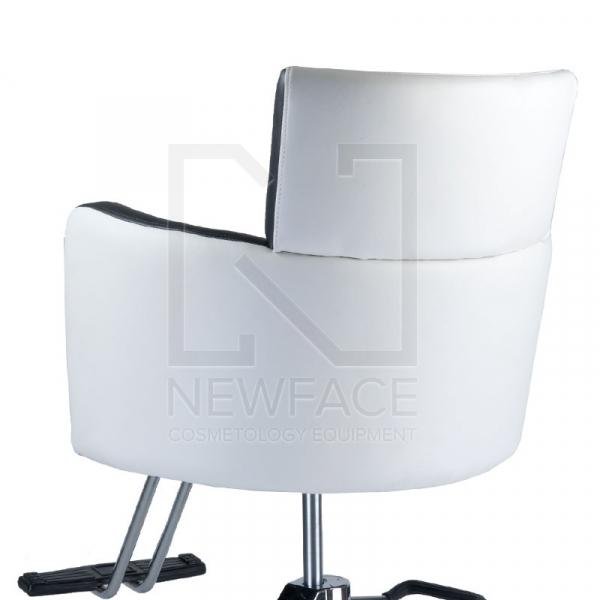 Fotel fryzjerski LUIGI BR-3927 biało-czarny #3