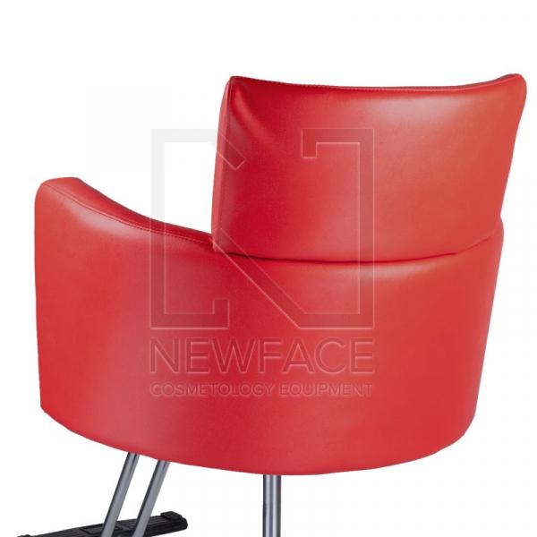 Fotel fryzjerski LUIGI BR-3927 czerwony #2