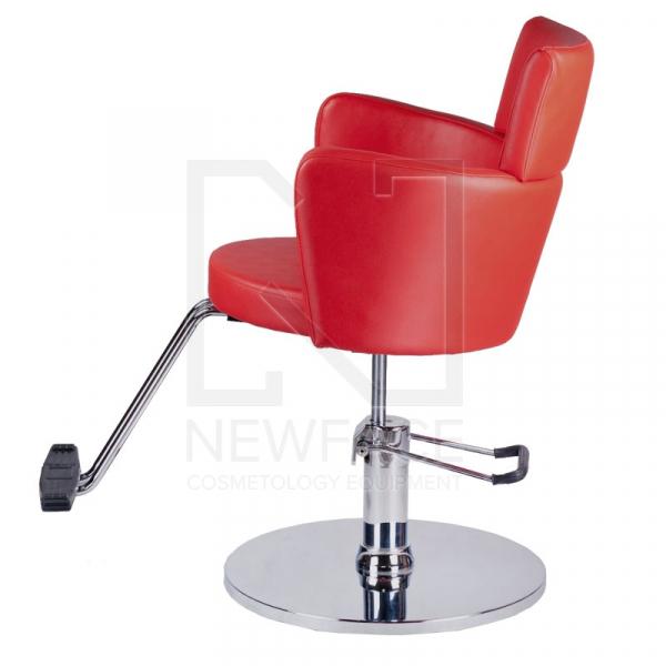 Fotel fryzjerski LUIGI BR-3927 czerwony #4