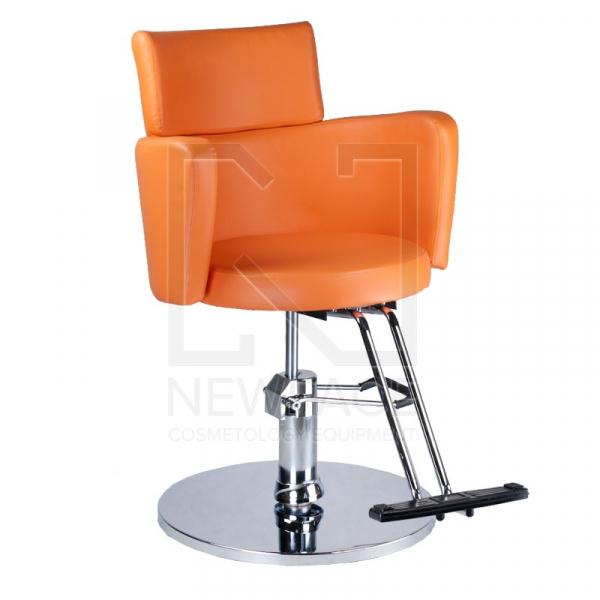 Fotel fryzjerski LUIGI BR-3927 pomarańczowy #1