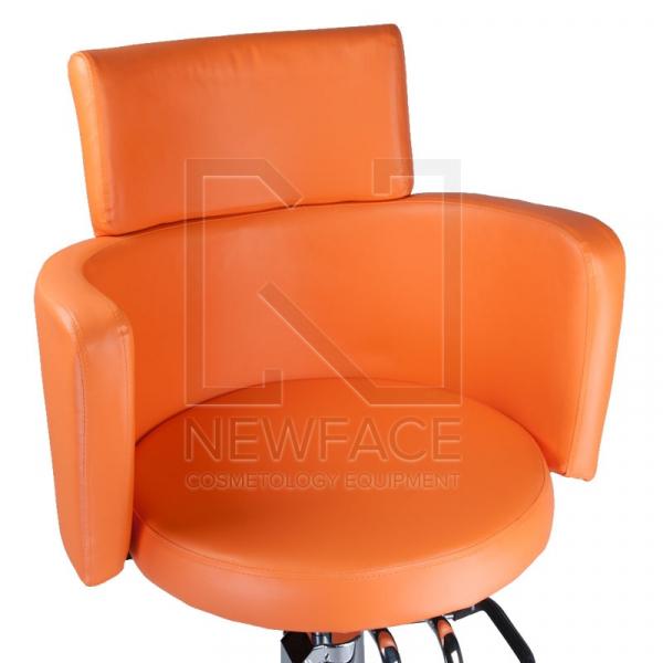 Fotel fryzjerski LUIGI BR-3927 pomarańczowy #2