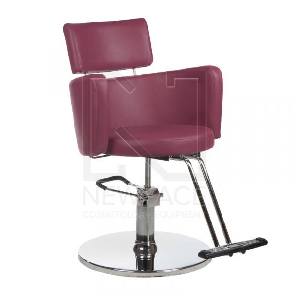 Fotel fryzjerski LUIGI BR-3927 wrzos #1
