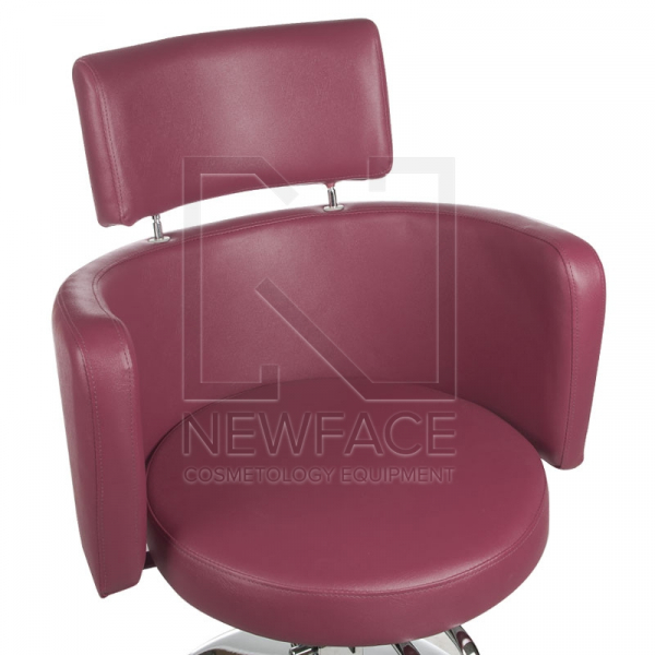 Fotel fryzjerski LUIGI BR-3927 wrzos #2