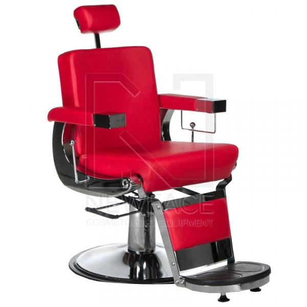 Fotel fryzjerski LUMBER BD-2121 Czerwony #1