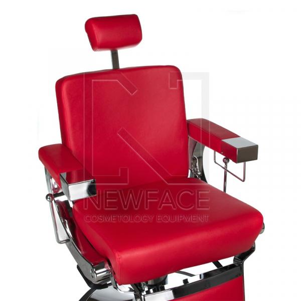 Fotel fryzjerski LUMBER BD-2121 Czerwony #2