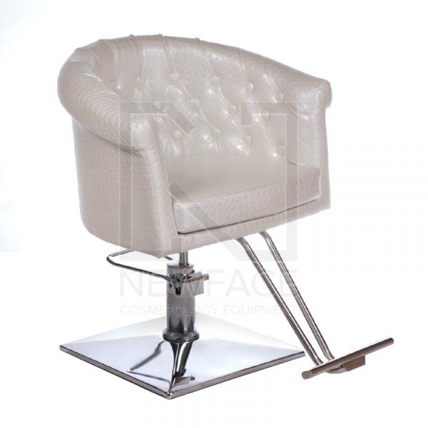 Fotel fryzjerski Marco perłowy BM-209 #1
