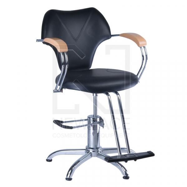 Fotel fryzjerski MARIO BR-3852 czarny #1