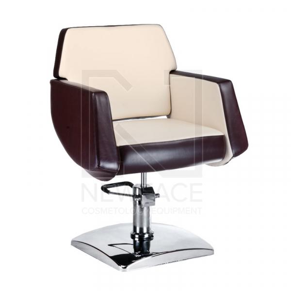 Fotel fryzjerski NICO brązowy-kremowy BD-1088 #1