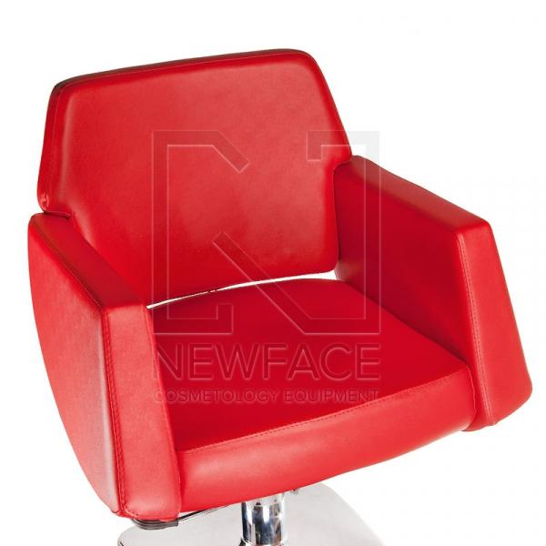 Fotel fryzjerski NICO czerwony BD-1088 #2