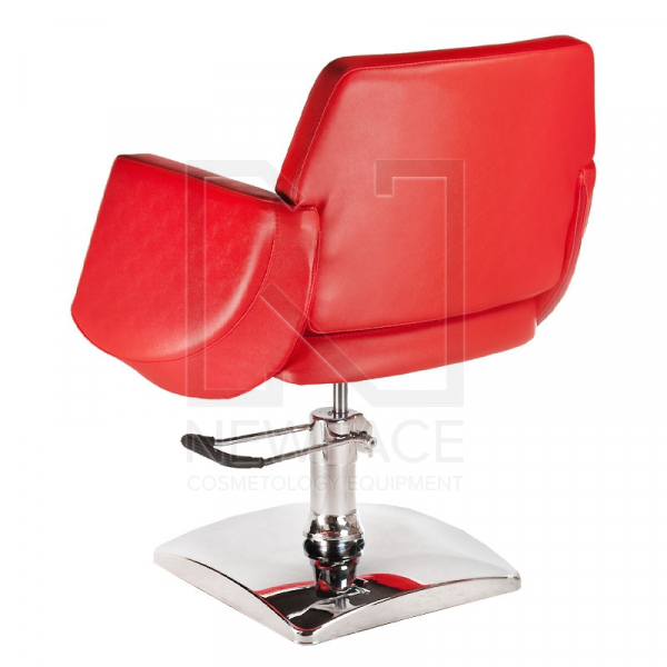 Fotel fryzjerski NICO czerwony BD-1088 #3