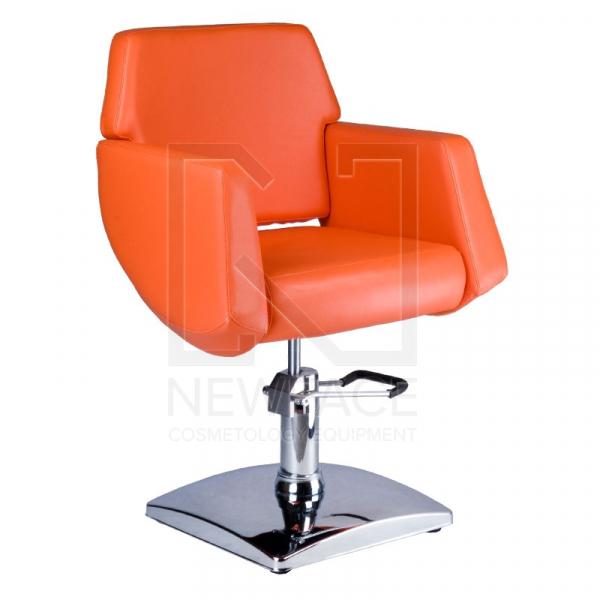 Fotel fryzjerski NICO pomarańczowy BD-1088 #1