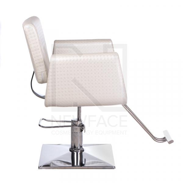 Fotel fryzjerski Vito BM-017 perłowy LUX #3