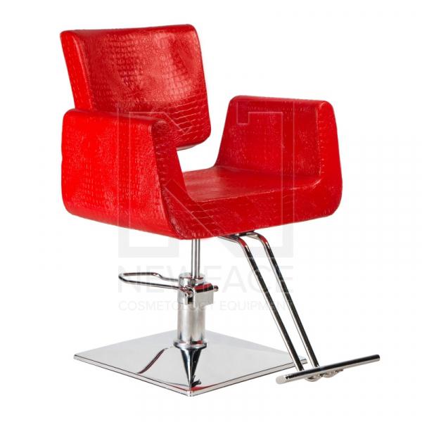 Fotel fryzjerski Vito BM-017 czerwony LUX #1